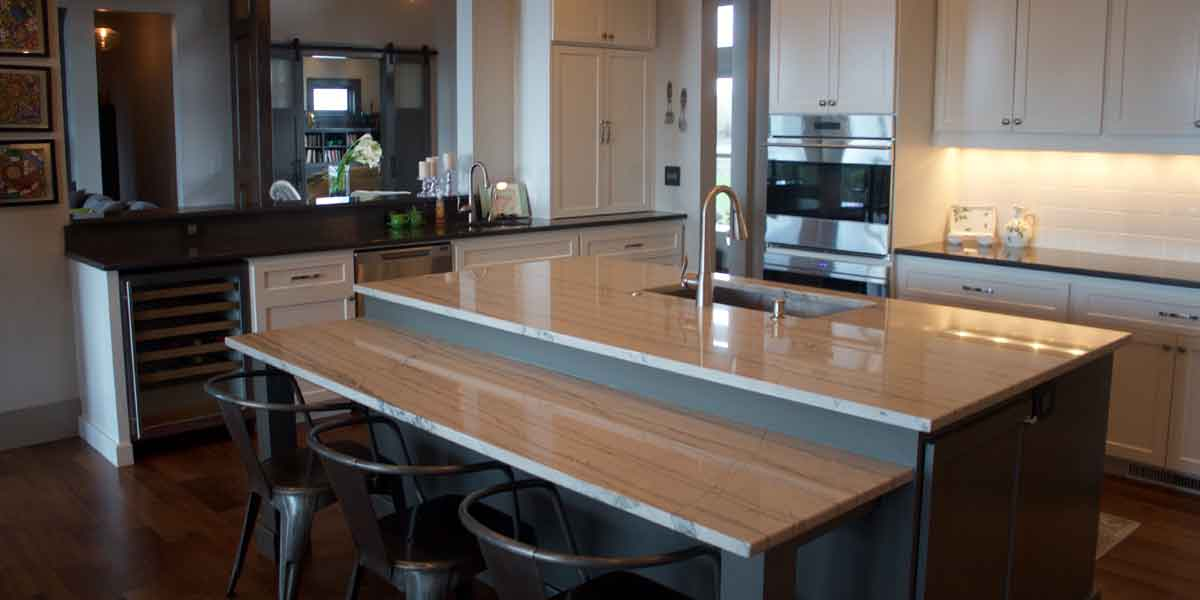 Kitchen in a Modern Farmhouse by Mike Riddle Construction
