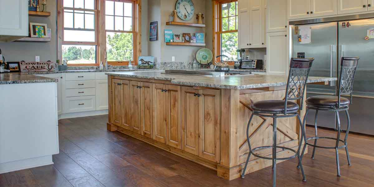 Kitchen in a Northwest Lodge by Mike Riddle Construction