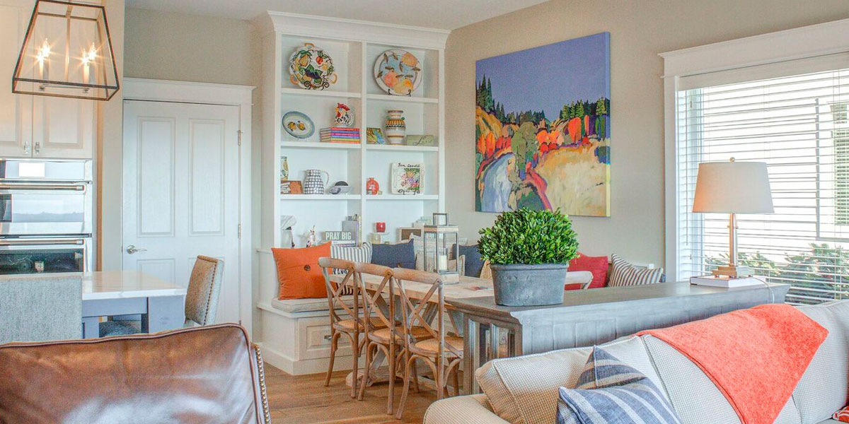 Eating Area in Cape Cod Remodel by Mike Riddle Construction
