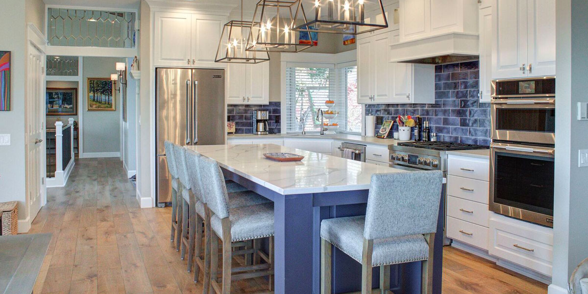 Kitchen in Cape Cod Remodel by Mike Riddle Construction