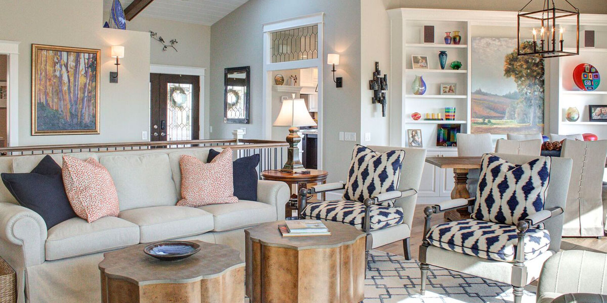 Sitting Area in Cape Cod Remodel by Mike Riddle Construction