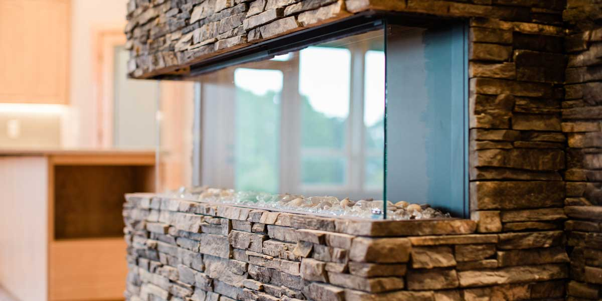 Fireplace Rock in a Country Ranch by Mike Riddle Construction