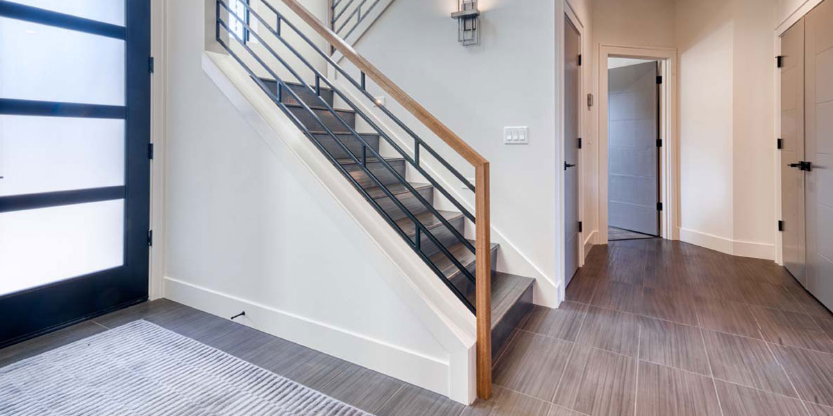 Entry of Modern Iconic Custom Home by Mike Riddle Construction