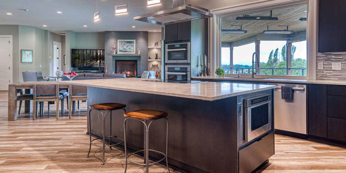 Kitchen in Modern Wine Country Farmhouse by Mike Riddle Construction