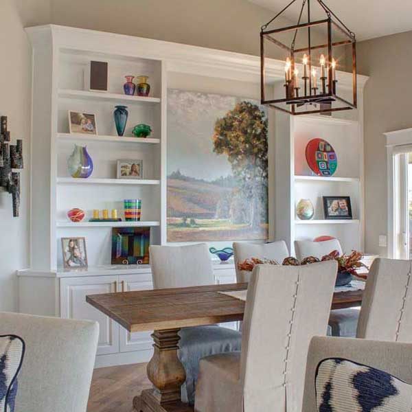 Dining Area in Cape Cod by Mike Riddle Construction