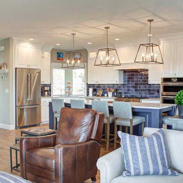 Kitchen in Cape Cod by Mike Riddle Construction