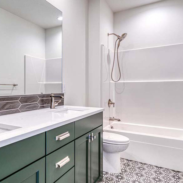Bathroom in Modern Iconic by Mike Riddle Construction