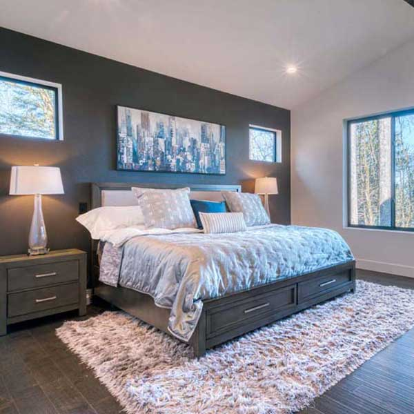 Bedroom in Modern Iconic by Mike Riddle Construction