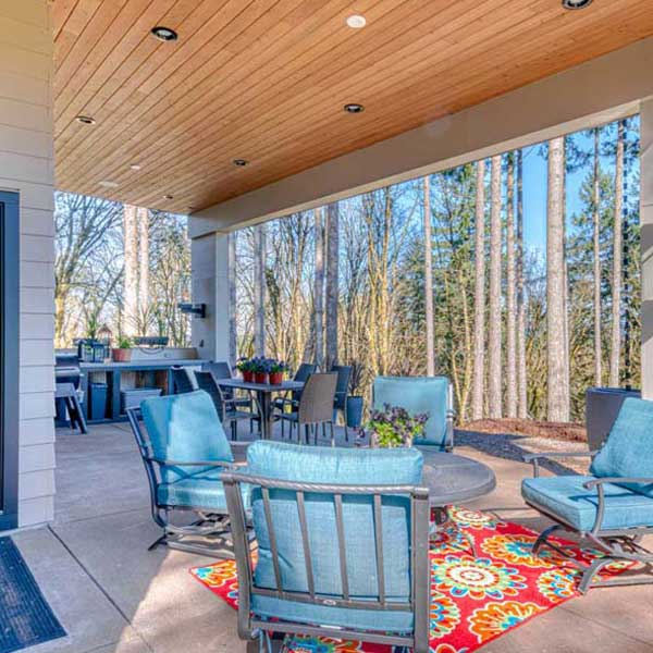 Deck in Modern Iconic by Mike Riddle Construction