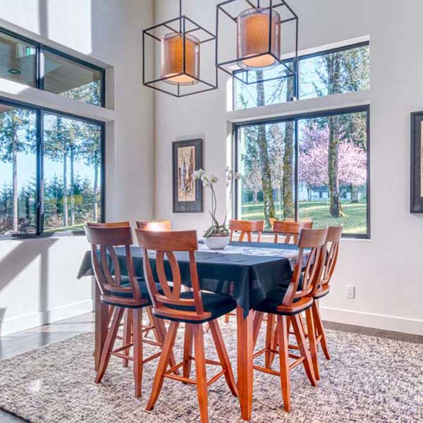 Eating Area in Modern Iconic by Mike Riddle Construction