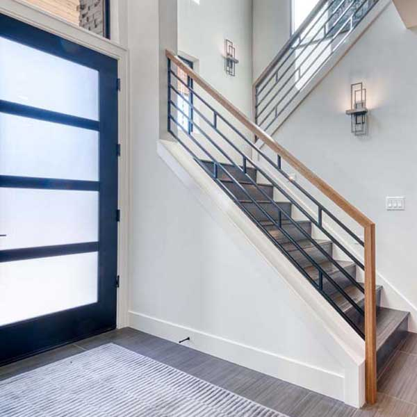 Entry Stairs in Modern Iconic by Mike Riddle Construction
