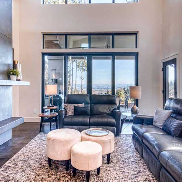 Living Area in Modern Iconic by Mike Riddle Construction