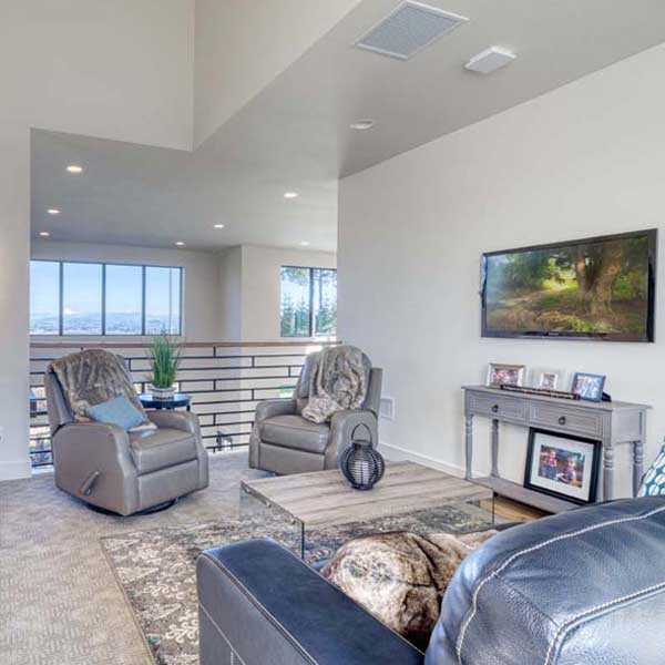Sitting Area in Modern Iconic by Mike Riddle Construction