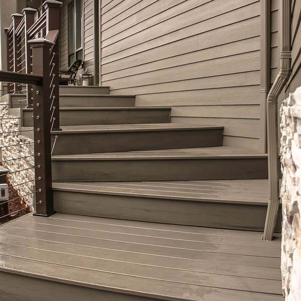 Outside Stairway of Family Retreat by Mike Riddle Construction