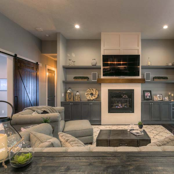 Living Area in Family Retreat by Mike Riddle Construction