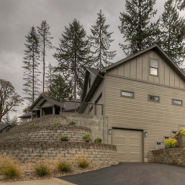 Exterior View of Family Retreat by Mike Riddle Construction