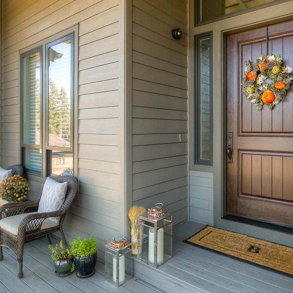 Front Door of Family Retreat by Mike Riddle Construction