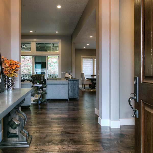 View to Living Area in Family Retreat by Mike Riddle Construction