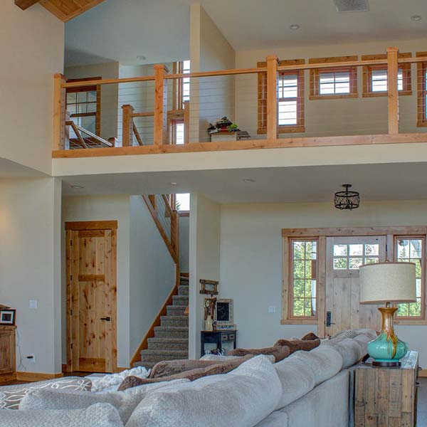 Living Area in Northwest Lodge by Mike Riddle Construction