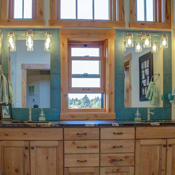 Bathroom in Northwest Lodge by Mike Riddle Construction