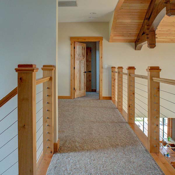 Upstairs Hallway in Northwest Lodge by Mike Riddle Construction