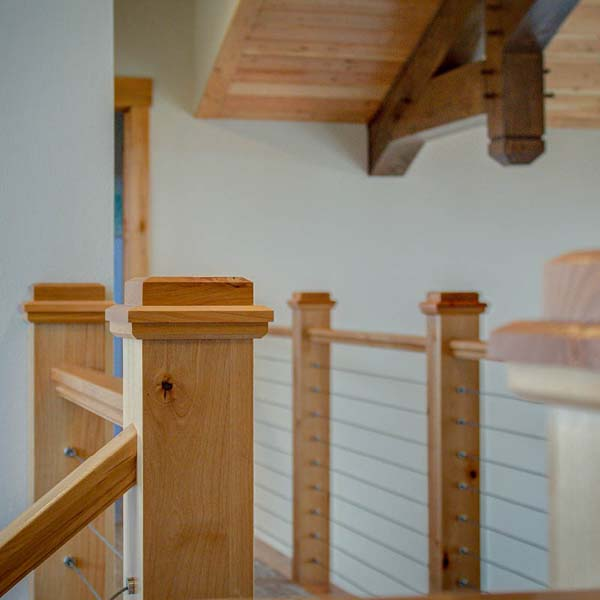 Upstairs Landing in Northwest Lodge by Mike Riddle Construction