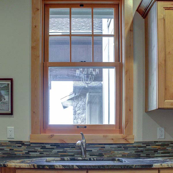 Sink in Northwest Lodge by Mike Riddle Construction