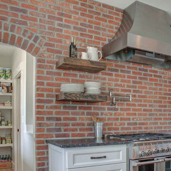 Kitchen in Contemporary Farmhouse by Mike Riddle Construction