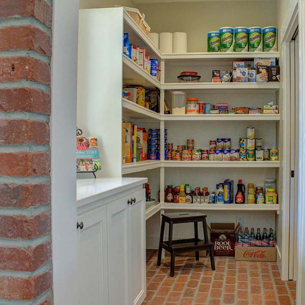 Pantry in Contemporary Farmhouse by Mike Riddle Construction
