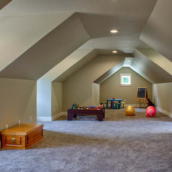 Extra Attic Room in Contemporary Farmhouse by Mike Riddle Construction