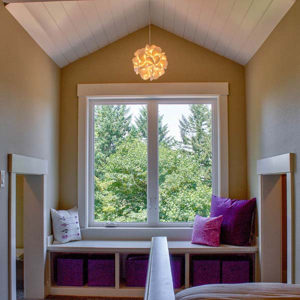 Window Seating in Contemporary Farmhouse by Mike Riddle Construction
