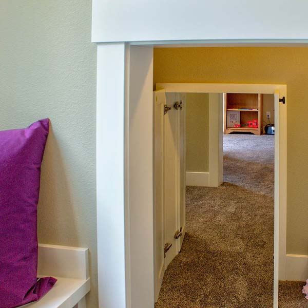 Hallway in Contemporary Farmhouse by Mike Riddle Construction