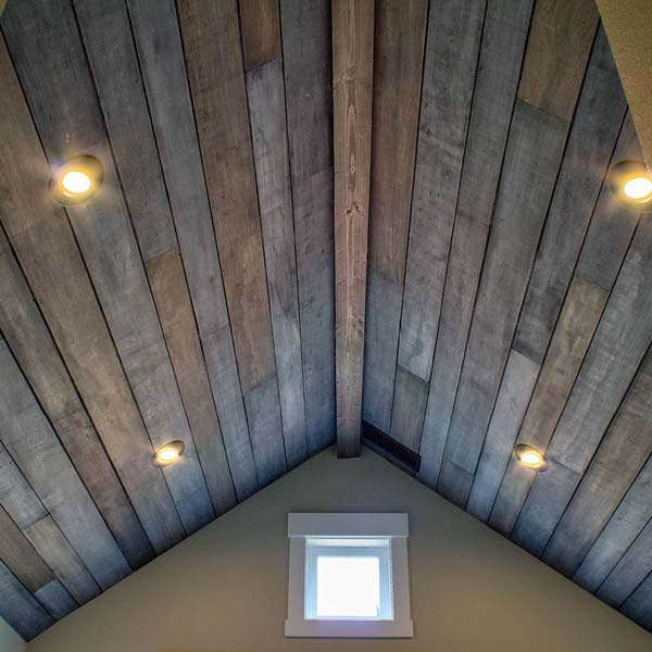 Vaulted Ceiling in Contemporary Farmhouse by Mike Riddle Construction
