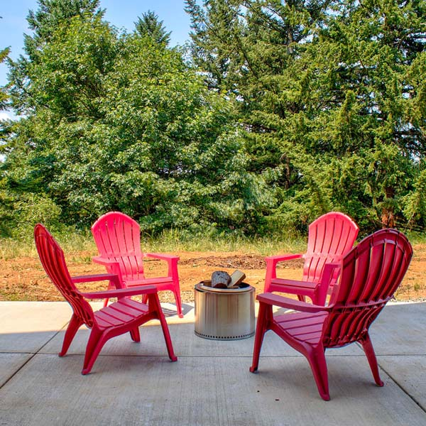 Patio in Contemporary Farmhouse by Mike Riddle Construction