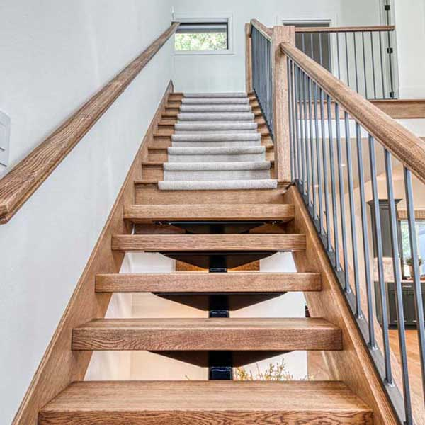 Stairs in Modern Tudor by Mike Riddle Construction