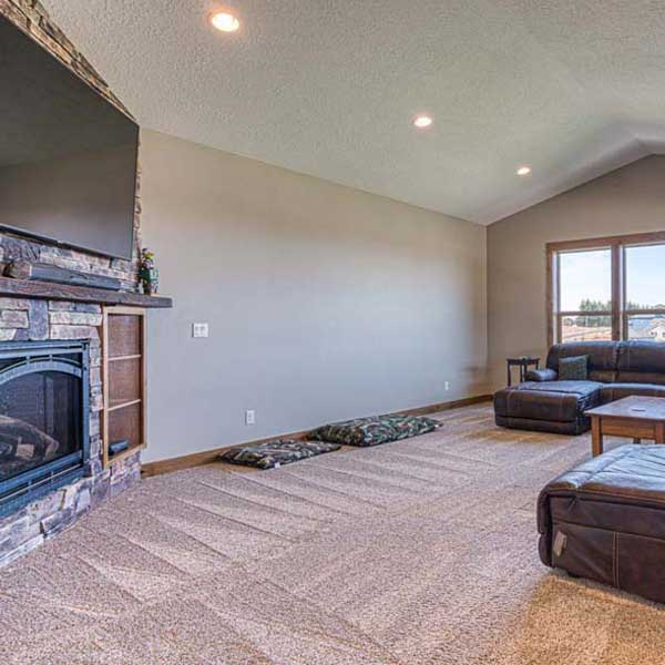 Bonus Room in Rustic Chic by Mike Riddle Construction
