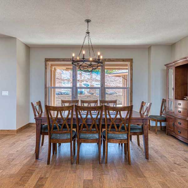 Dining in Rustic Chic by Mike Riddle Construction