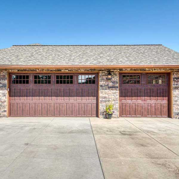 Garage on Rustic Chic by Mike Riddle Construction