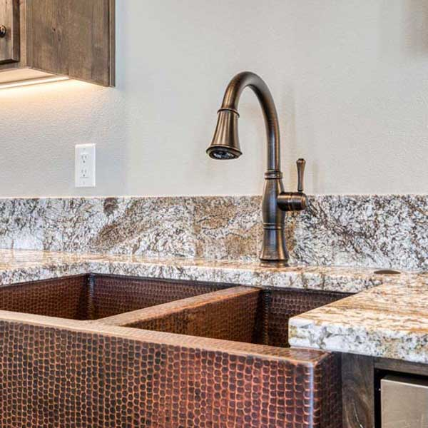Kitchen in Rustic Chic by Mike Riddle Construction
