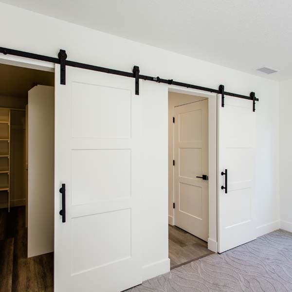 Closet Doors in Modern Luxury by Mike Riddle Construction