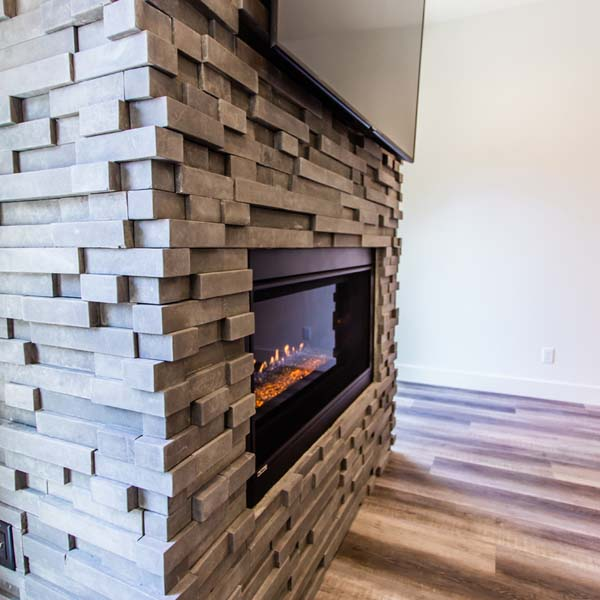 Fireplace in Modern Luxury by Mike Riddle Construction