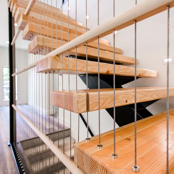 Stairway in Modern Luxury by Mike Riddle Construction